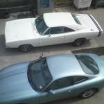 Cars at Rangers garage